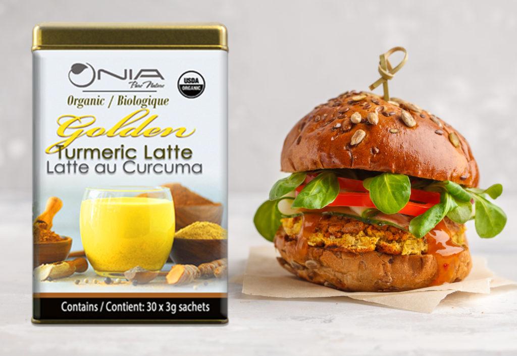 , Burgers végétaliens aux lentilles au curcuma doré de Nia, Nia Pure Nature