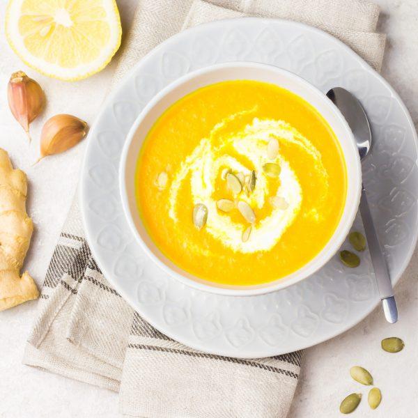 Nia Pure Creamy turmeric-ginger carrot soup